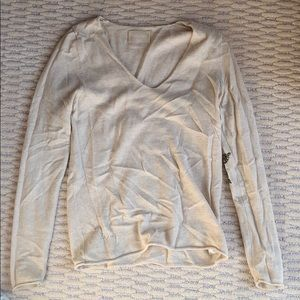 Zadig & Voltaire cream sweater with sequin stars